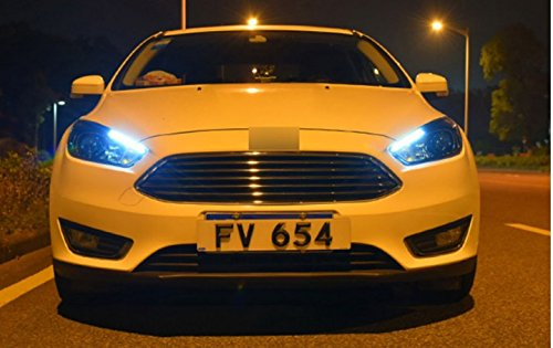 GOWE Car Styling for Ford Focus Headlights 2015-2018 Focus3 LED Headlight DRL Bi Xenon Lens High Low Beam Parking Fog Lamp Color Temperature:4300k;Wattage:55w 0