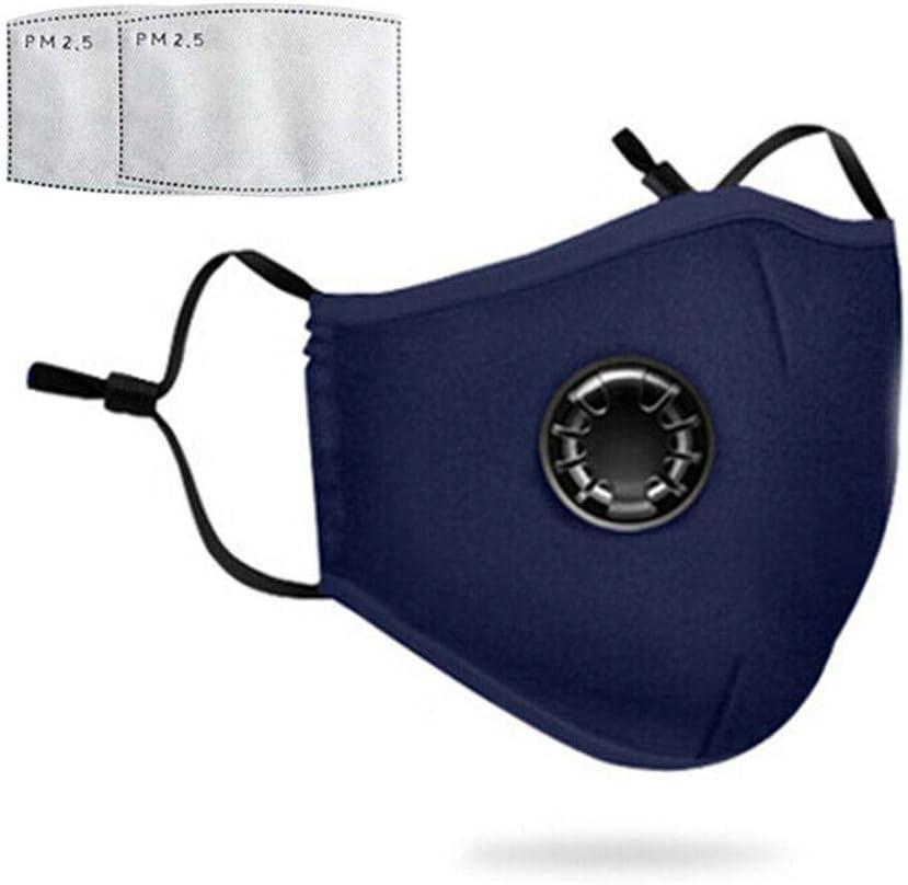 Mascarilla de protección respiratoria – Máscara antipolvo con filtro adicional para trabajos de jardín, viajes, artesanos, polvo, alergias, PM2.5, suciedad, polen