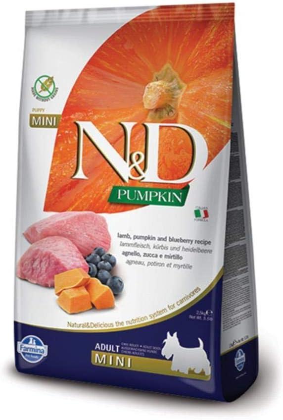 Farmina N&D Dog Dry Grain Free Pumpkin Mini Lamb & Blueberry 15.4 Pounds
