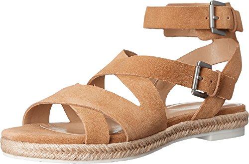 Price comparison product image Marc Fisher LTD Women's Alysse Flat Sandal,  Tan Suede,  8 M US