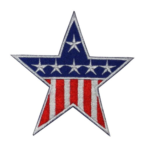 Star-USA-US-United-States-of-America-American-Flag-DIY-Applique-Embroidered-Sew-Iron-on-Patch