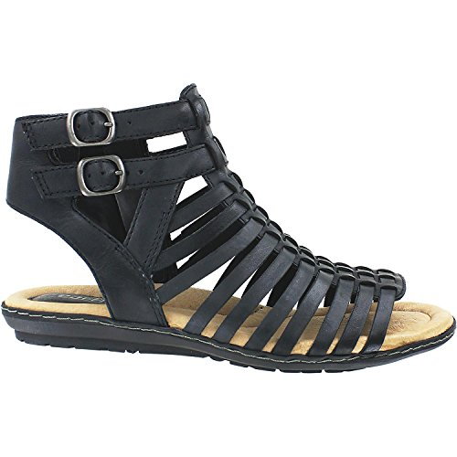 Earth Women's Sky Gladiator Sandal,Black Soft Leather,US 8 M by Earth