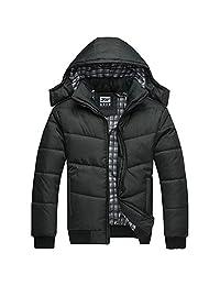 Imixshopps 2018 Fashion Men Warm Hoodie Coat Parka Winter Coat Outwear Down Jacket