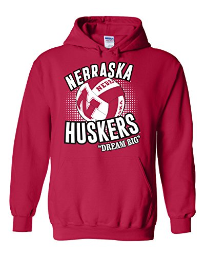 - CornBorn Nebraska Huskers Volleyball Dream Big Hooded Sweatshirt - Red - Medium