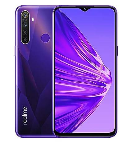 "Realme 5 - Smartphone de 6.5"", 4GB RAM + 128GB ROM, LCD Multitáctil, procesador Octacore, cuádruple cámara 12MP IA, Dual Sim, púrpura (Crystal Purple), [Versión española]"