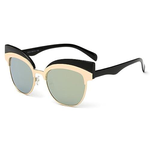 Highdas nuovo gatto occhiali da sole dell'occhio di modo delle donne degli occhiali da sole in metallo Cateye
