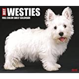 2018 Just Westies Daily Desktop Box Calendar Dogs {jg} Great Holiday Gift Ideas - for mom, dad, sister, brother, grandparents, gay, lgbtq, grandchildren, grandma.