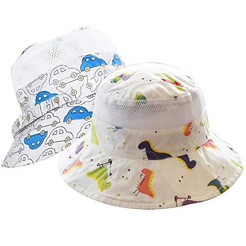 "355b5ebccef32c Baby Sun Hat Girls -Toddler Summer UPF 50+ Protection Wide Strap Bucket  Adjustable Kids Beach Swim Hat 20.4""(52cm)(2-4Years)"
