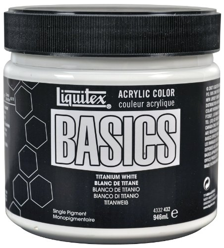 Medium 32 Ounce Jar (Liquitex BASICS Acrylic Paint 32-oz jar, Titanium White)