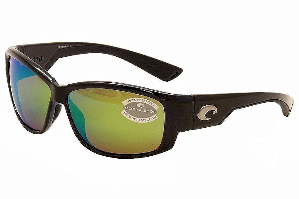 7a409a186db8 Costa Del Mar LK 11 Luke Shiny Black Rectangular Sunglasses for Mens:  Amazon.ca: Sports & Outdoors