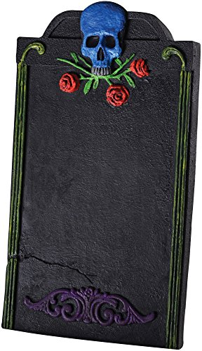 [Rubie's Blue & Red Skull N' Roses Tombstone Party Decoration] (Red Skull Costume Amazon)