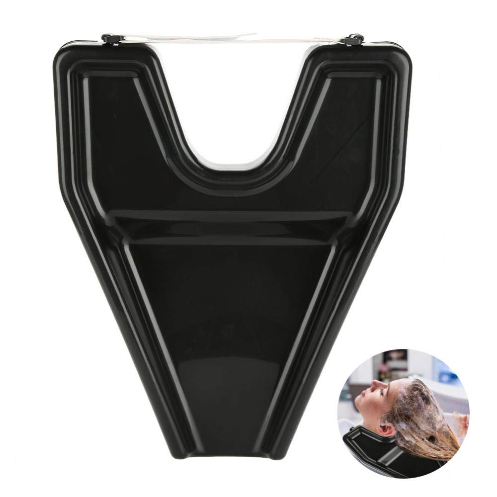 Hair Wash Bowl, Portable Shampoo Rinse Wash Bowl for Salon Home or Persons with Reduced Mobility Semme