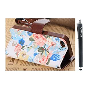Otterca Unique Design Surface printing Leather Case With Stand Case Cover fit for iPhone 4 4S With Stylus