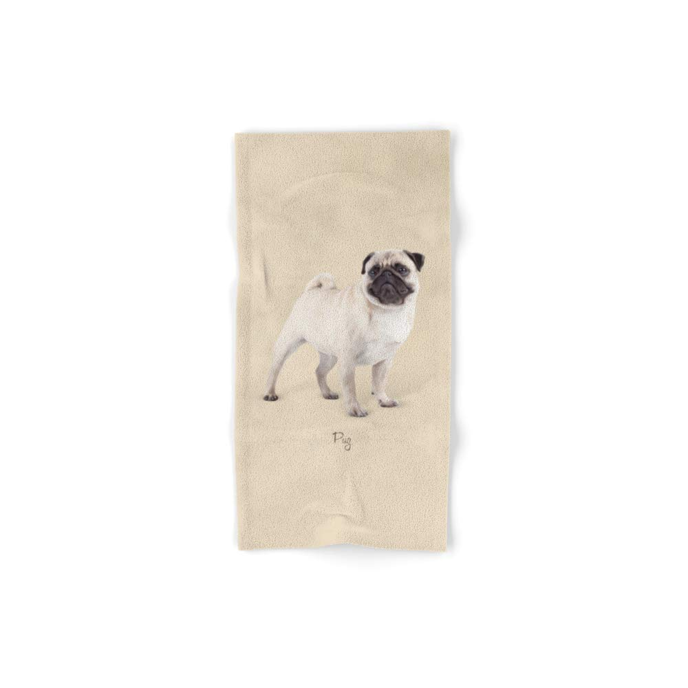 Society6 Bath Towel, 30'' x 15'', Pug by afronus