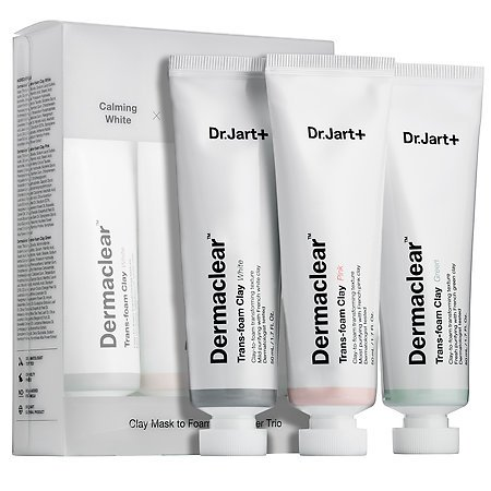 [Dr.jart] Dermaclear Trans-Foam Clay Trio (White, Pink, Green) 50ml x 3ea/ Clay Mask to Foaming Cleanser Trio