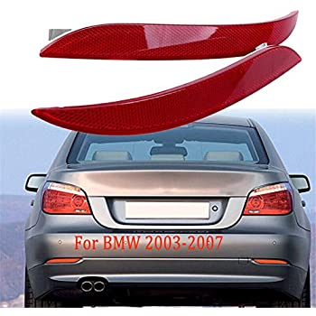 Rear Bumper Driver Side Red Lens Reflector fit BMW 5 Series E60 2003-2007 04 05