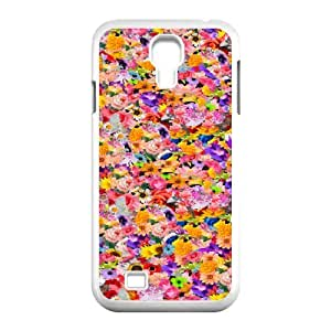 floral pattern flowers print colorful Samsung Galaxy S4 Case White