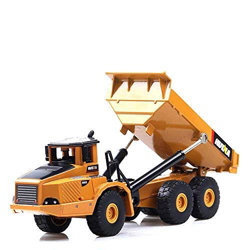 (Ailejia 1:50 Alloy Engineering Vehicle Truck Model Simulation Toy car Dump Truck )