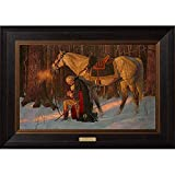 12104-The Prayer at Valley Forge - 25x35 Textured Litho, Walnut Wood, GW Quote