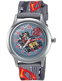 Boy's 'Mickey Mouse' Quartz Stainless Steel and Nylon Casual Watch, Color:Grey (Model: WDS000182)