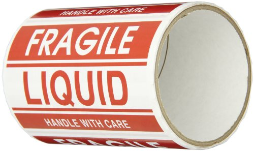 TapeCase Fragile, Liquid Label - 50 per pack (1 Pack) (Liquid Fragile)