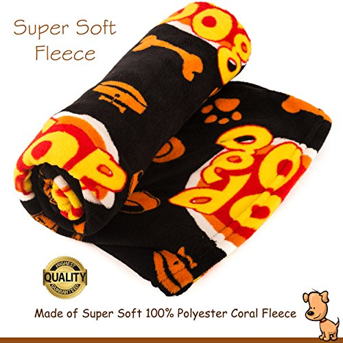 Deluxe Dog Blanket, 39x59'', Large, Super Soft Fleece, ''Top Dog'' Design, Machine-Washable, Perfect Gift for Dogs & Dog Lovers by Best of Breed Pet Care (Image #4)