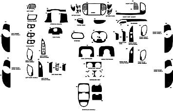 Zebrano Mahogany SuperCrew - Wood Grain Rvinyl Rdash Dash Kit Decal Trim for Ford F-150 2001-2003