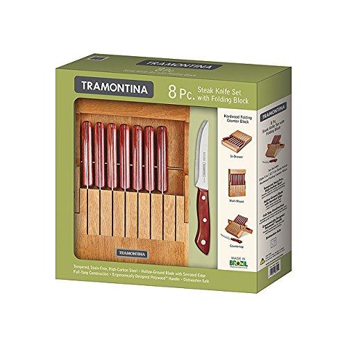 Tramontina 8 Pc. Steak Knife Set with Folding Block by Tramontina