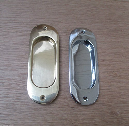 IRONMONGERY WORLDÂ SOLID BRASS RECESSED PULL DOOR HANDLE ...