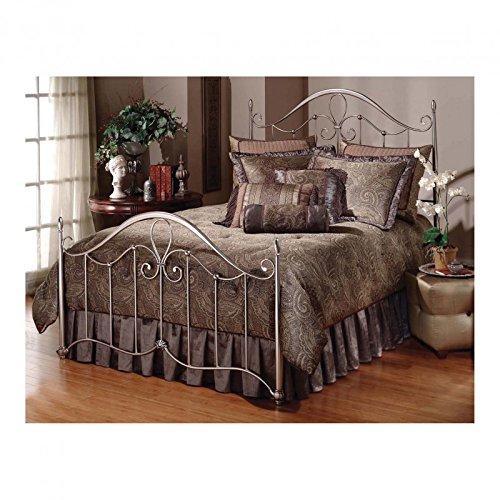 Hillsdale Furniture 1383BKR Doheny Bed Set with Rails, King, Antique (Bedroom Maple Footboard)