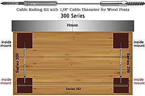 Amazon Com 300 Series Ultra Tec 174 Cable Railing Kits For