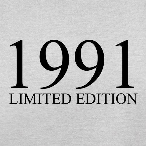 1991 Limierte Auflage / Limited Edition - 26. Geburtstag - Herren T-Shirt - Hellgrau - XXXL