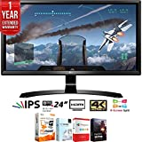 LG 24UD58-B 24' 16:9 4K UHD (3840 x 2160) FreeSync IPS Monitor + Elite Suite 17 Standard Software Bundle (Corel WordPerfect, Winzip, PDF Fusion,X9) + 1 Year Extended Warranty