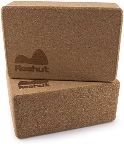 Reehut (2-PC) Natural Cork Yoga Blocks, 9