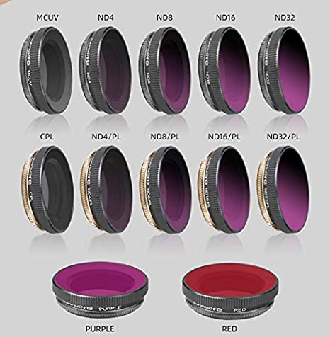 Leoie for DJI Osmo Action MCUV ND4//ND8//ND16 CPL PL Filter Lens MCUV+CPL+ND4+ND8+ND16+ND32