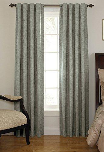 Beautyrest 11239042X063GRE Chenille 42-Inch by 63-Inch Rod Pocket Single Window Curtain Panel, Grey