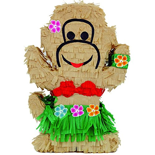 Monkey Pinata - Pinatas Luau Monkey, Party Game, Centerpiece Decoration and Photo Prop, 20