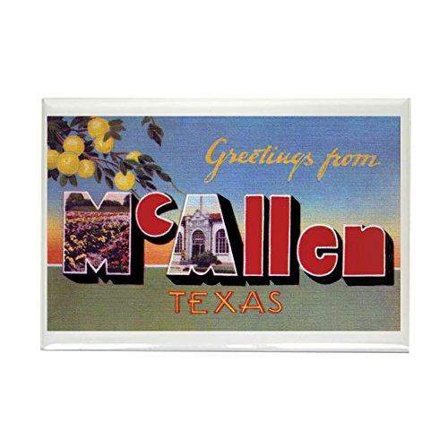 CafePress Mcallen Texas Greetings Rectangle Magnet, 2