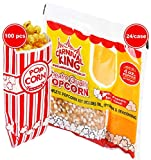 Carnival King All-In-One Popcorn Kit for 4 oz. Popper (24/Case) + Carnival King popcorn bags (100 pieces) + 4 Coasters