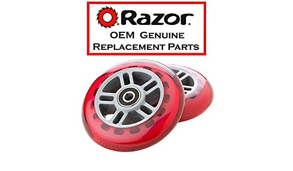 RipStik RED Genuine Razor Replacement 64mm for PowerWing//RipRider 360 Rear Wheel Set