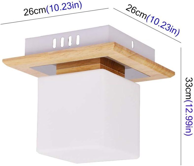 Ownlife Luz de Techo Simple Alebrije Techo balcón LED Enciende Las Luces de Pasillo Corredor Corredor Porche Cuadrados Luces Moderno (Color : White): Amazon.es: Hogar