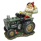 Cheap Garden Gnome Statue – Plowing Pete Garden Gnome Tractor – Lawn Gnome