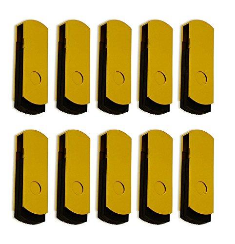 FEBNISCTE 100 Pack 512MB Pendrive Gold Swivel Cheap Bulk USB 2.0 Memory Stick by FEBNISCTE (Image #3)