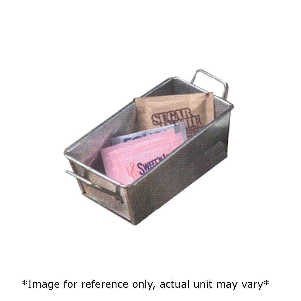 American Metalcraft GSP35 Sugar Packet Holder, 5''L x 3''W x 2''H, Galvanized Steel, Silver Color, Case of 48