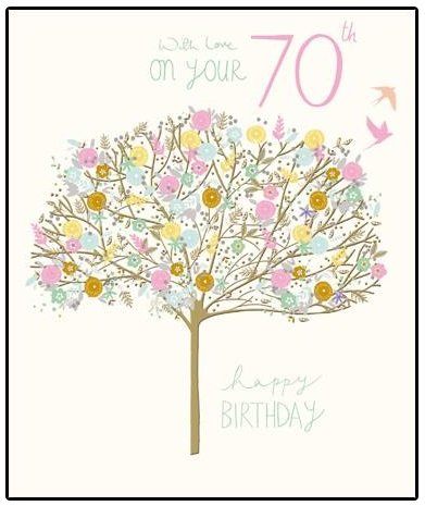 Amazon Pretty Happy 70th Birthday Greeting Card Peach Prosecco Range Cards Office Products