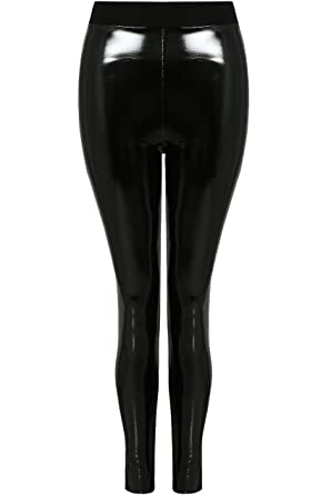 af3f302c2bc7b fashion_icon Shiny Vinyl Faux Leather Stretch Leggings Wet Look PVC PU  Trousers 8-14 (S (UK8)): Amazon.co.uk: Clothing