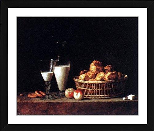 "Henri-Horace Roland De La Porte Still-Life with a Carafe of Barley Wine - 19.25"" x 21.75"" Matted Framed Premium Archival Print"