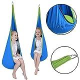 COSTWAY Child Swing Hanging Seat Hammock - Blue by SpiritOne