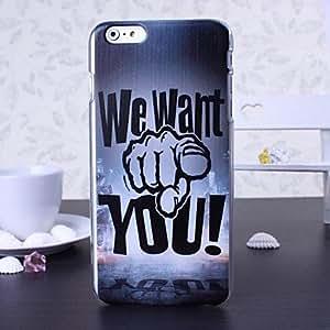 MOFY- te queremos patr—n de pl‡stico duro para el iphone 6 m‡s , Multicolor