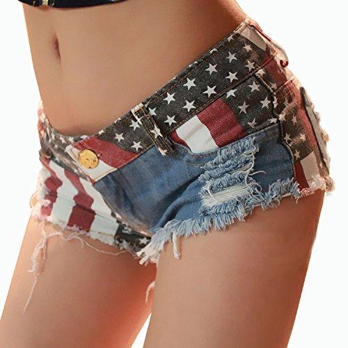 (カンセイ アワーズ) KANSEI HOURS 星条旗 レディース ショーパン アメリカン マイクロショートパンツ カウガール ホットパンツ S-L選択